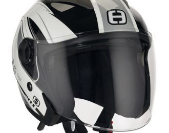 Helm Speeds City II , Graphic weiß silber L